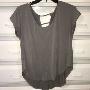 Grey high low shirt